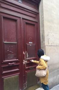 パリ塾教室入口