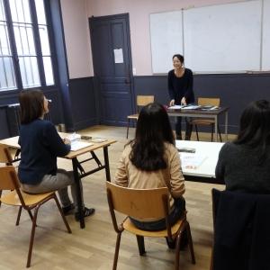 パリ語学学校 巴里塾 クラス風景